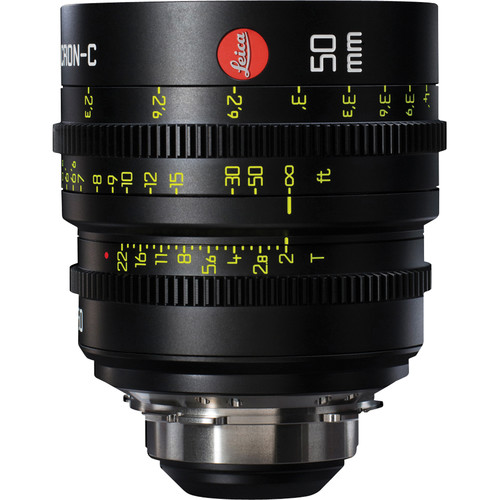 Leitz Cine 50mm T2.0 Summicron-C Lens (PL Mount, Marked in Feet)