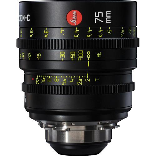 Leitz Cine 75mm T2.0 Summicron-C Lens (PL Mount, Marked in Feet)