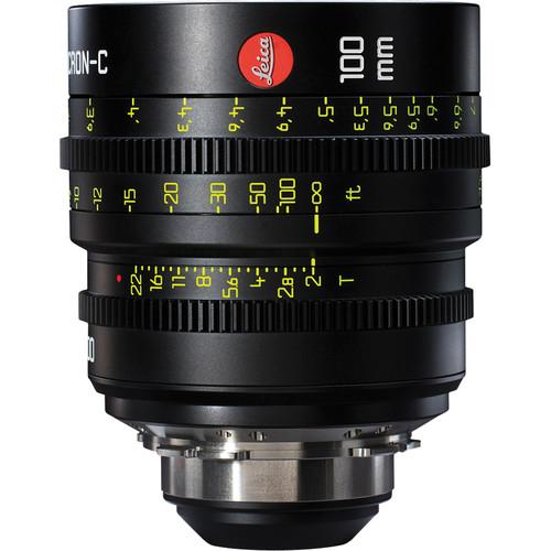 Leitz Cine 100mm T2.0 Summicron-C Lens (PL Mount, Marked in Feet)