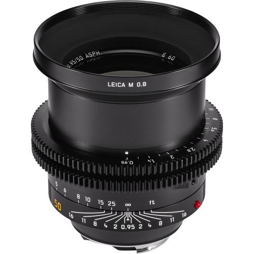 Leitz Cine 50mm M 0.8 f/0.95 Full Frame M-Mount Lens (Feet)