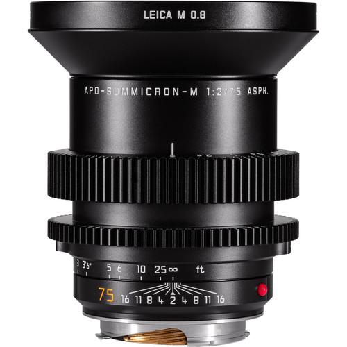Leitz Cine 75mm M 0.8 f/2.0 Full Frame M-Mount Lens (Feet)