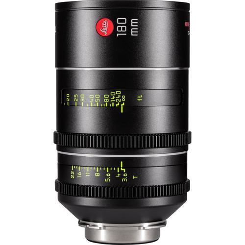 Leitz Cine THALIA 180mm T3.6 Cine Lens (PL Mount, Marked in Feet)