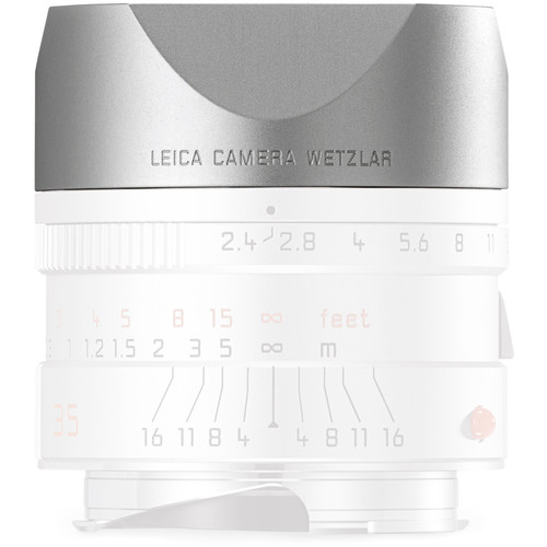Leica Lens Hood for 35mm f/2.4 & 50mm f/2.4 (Silver)