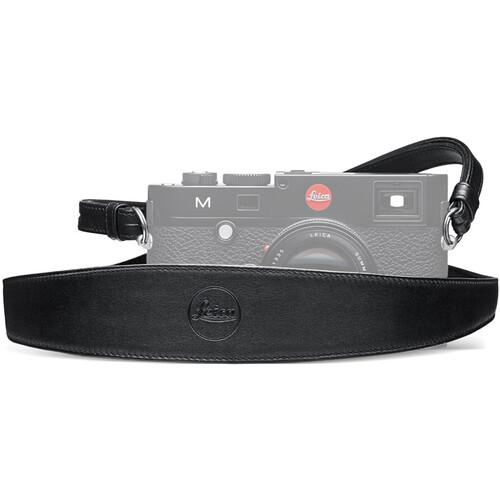 Leica Wide Saddle Leather Camera Strap (Black)