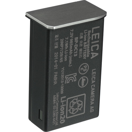 Leica BP-DC13 Lithium-Ion Battery (7.2V, 985mAh, Silver)
