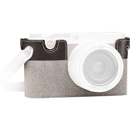 Leica X-Protector Country Case for Leica X (Typ 113) Digital Camera (Canvas/Leather, Taupe)