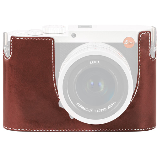 Leica Leica Protector for Q Typ 116 Half Case (Vintage Brown, Leather)