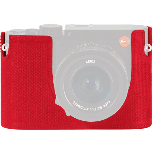 Leica Leica Protector for Q Typ 116 Half Case (Red, Leather)