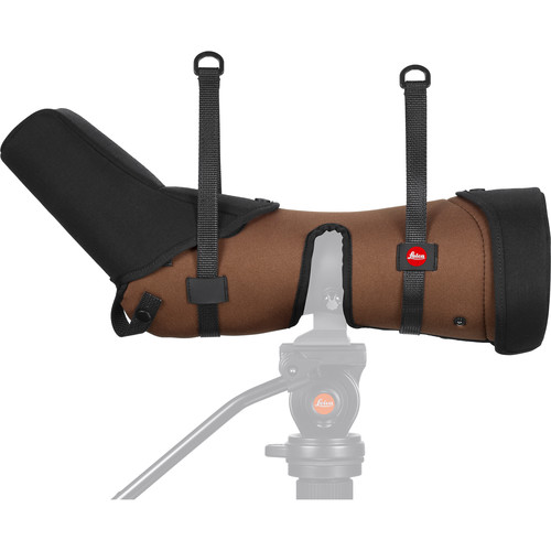 Leica Ever-Ready Stay-On Case for the APO-Televid 82W Spotting Scope (Angled, Brown)