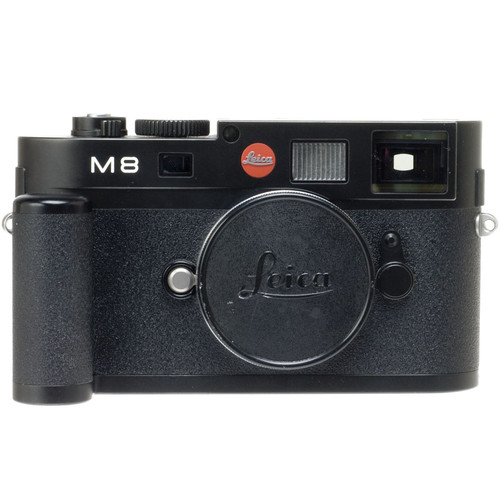 Leica M8 Rangefinder Digital Camera Body (Black) with Grip M