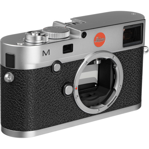 Leica M (Typ 240) Digital Rangefinder Camera with Bowery Camera Bag (Silver Body, Antique Cognac Bag)