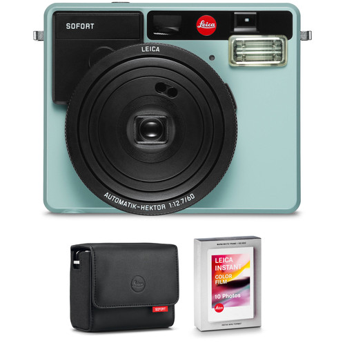 Leica Sofort Instant Film Camera with Case and Color Film Kit (Mint)