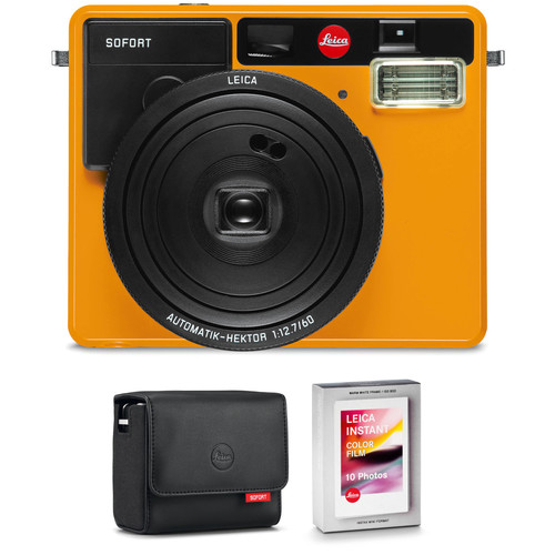 Leica Sofort Instant Film Camera with Case and Color Film Kit (Orange)
