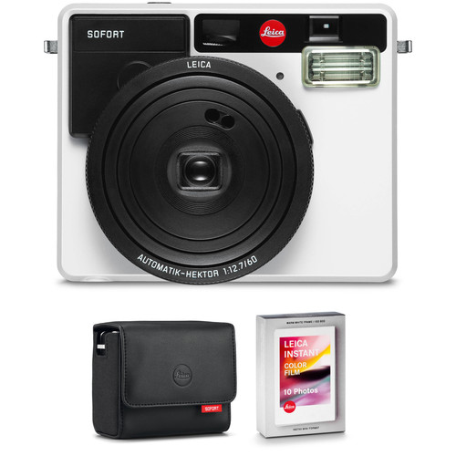 Leica Sofort Instant Film Camera with Case and Color Film Kit (White)