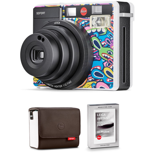 Leica Sofort Instant Film Camera with Case and Monochrom Film Kit (LimoLand by Jean Pigozzi Special Edition)