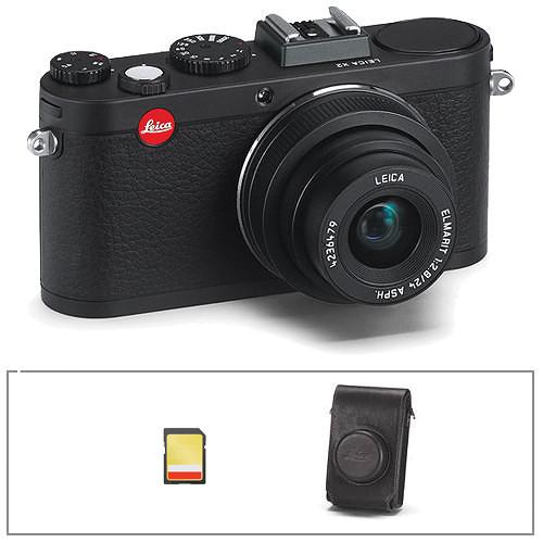 Leica X2 Digital Camera Basic Kit (Black)