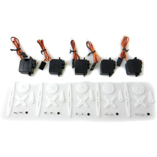 Lemon RX Brushless Servo Motor for DSMX and DSM2 Transmitters (5-Pack, Metal)