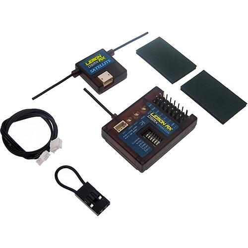Lemon RX DSMX Compatible 7-Channel Stabilizer (Top-Pin) with DSMX Compatible Satellite (DSM2 Backward Compatible)