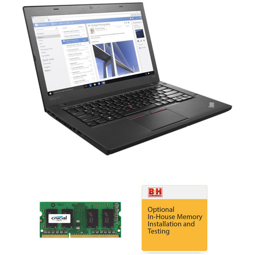"Lenovo 14"" ThinkPad T460 Series Ultrabook with 8GB RAM Upgrade Kit"