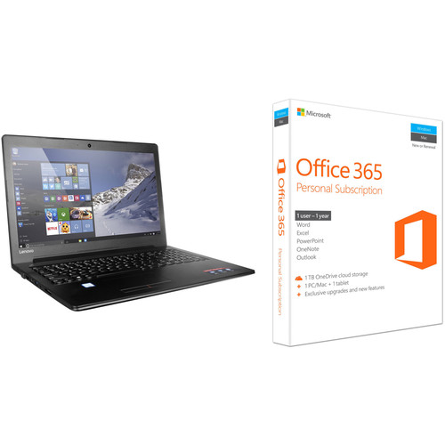 "Lenovo 15.6"" Ideapad 310 Series Notebook with Office 365 Kit"