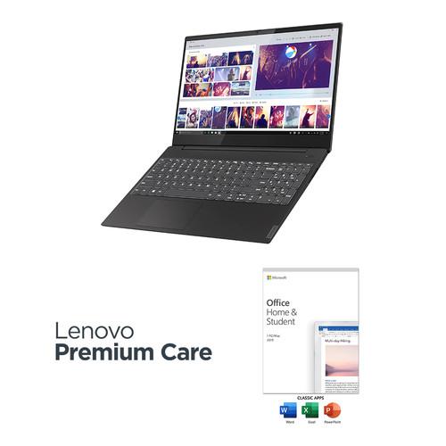 "Lenovo 15.6"" IdeaPad S340 Laptop Kit with Microsoft Office Home & Student 2019 (Onyx Black)"