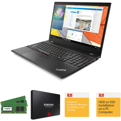 """Lenovo 15.6"""" ThinkPad T580 Laptop with Crucial 32GB DDR4 RAM, Samsung 256GB SSD, and B&H Installation Services"""