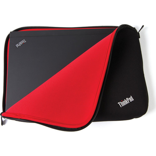 "Lenovo ThinkPad 12"" Fitted Reversible Sleeve (Black/Red)"
