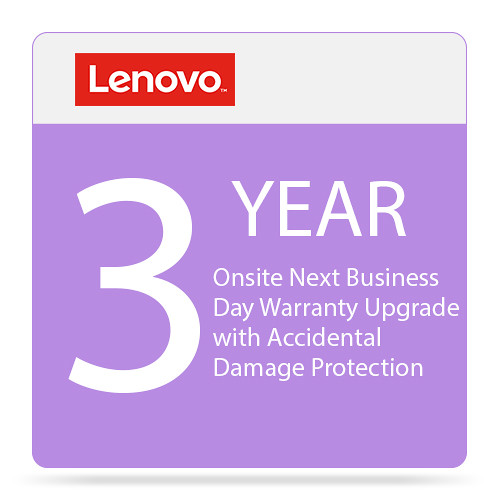 Lenovo 3-Year Onsite NBD Warranty Upgrade with Accidental Damage Protection