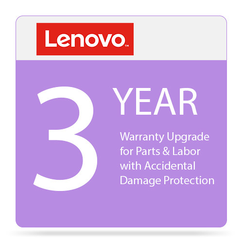 Lenovo 3-Year Warranty Upgrade for Parts & Labor with Accidental Damage Protection
