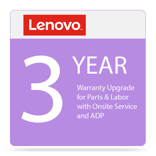 Lenovo 3-Year Warranty Upgrade for Parts & Labor with On-Site Service and ADP