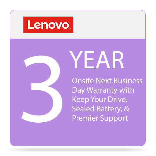 Lenovo 3-Year Onsite Next Business Day Warranty with Keep Your Drive, Sealed Battery, & Premier Support