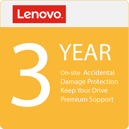 Lenovo 3-Year Onsite Warranty Extension with Accidental Damage Protection, Keep Your Drive & Premier Support