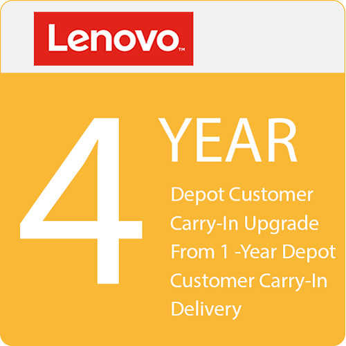 Lenovo 4-Year Depot Customer Carry-In Upgrade from 1-Year Depot Customer Carry-In Delivery
