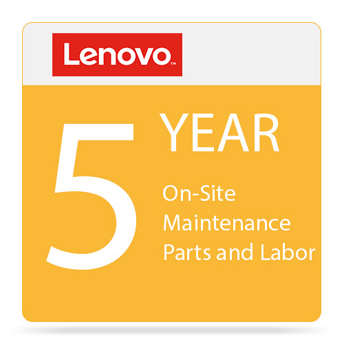 Lenovo 5-Year Onsite Warranty Extension with Maintenance & Parts & Labor