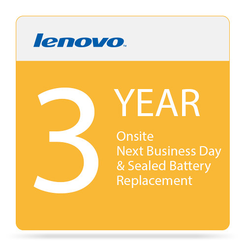 Lenovo 3-Year Onsite Next Business Day & Sealed Battery Replacement for ThinkPad