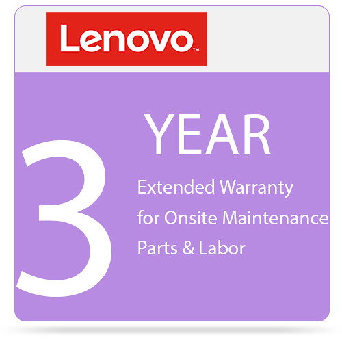 Lenovo 3-Year Extended Warranty Upgrade for Onsite Maintenance Parts & Labor (From 3-Year Warranty)