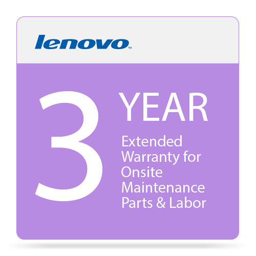Lenovo 3-Year Extended Warranty Upgrade for Onsite Maintenance Parts & Labor (From 1-Year Warranty)