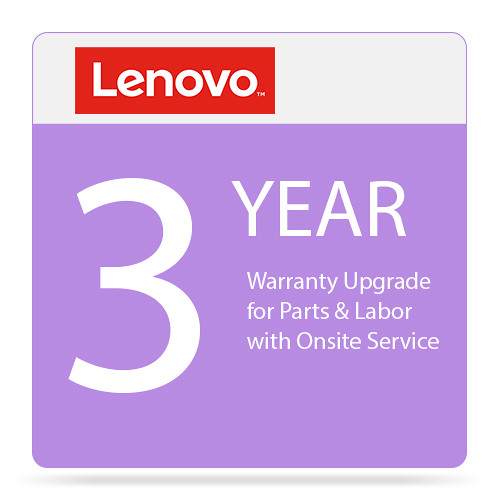 Lenovo 3-Year Warranty Upgrade for Parts & Labor with Onsite Service