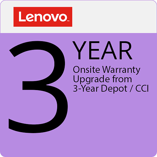 Lenovo 3-Year Onsite Warranty Upgrade from 3-Year Depot / CCI (New Zealand)