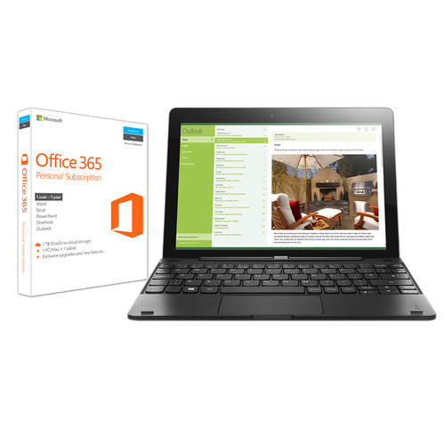 """Lenovo Lenovo 10.1"""" IdeaPad Miix 300 Multi-Touch Tablet Kit with Microsoft Office 365 Personal"""