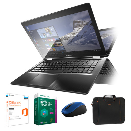 "Lenovo Lenovo 14"" Flex 3 Multi-Touch 2-in-1 Notebook Kit with Microsoft Office 365 Home, Anti-Virus Software, Mouse, and Notebook Bag"