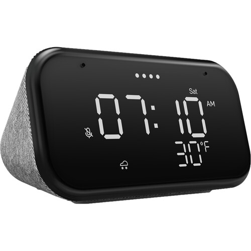 Lenovo Essential Soft Touch Gray Smart Clock
