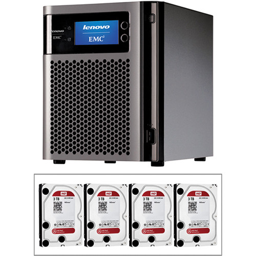 LenovoEMC 12TB (4 x 3TB) px4-300d 4-Bay NAS Storage Array Kit with Drives
