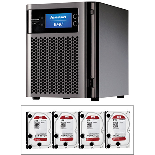 LenovoEMC 8TB (4 x 2TB) px4-300d 4-Bay NAS Storage Array Kit with Drives