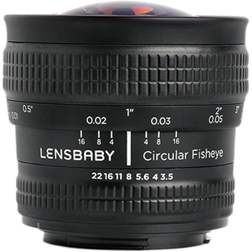 Lensbaby 5.8mm f/3.5 Circular Fisheye Lens for Nikon F