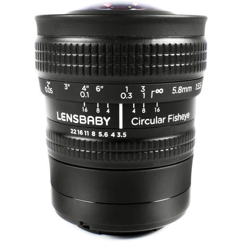 Lensbaby 5.8mm f/3.5 Circular Fisheye Lens for Sony E