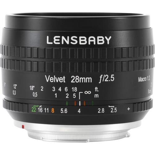 Lensbaby Velvet 28mm f/2.5 Lens for Canon EF (Black)