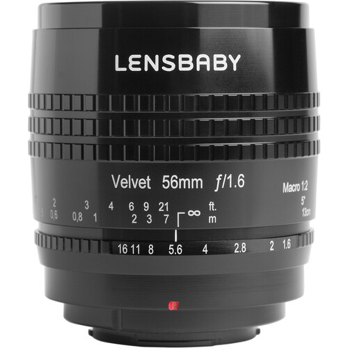 Lensbaby Velvet 56mm f/1.6 Lens for Canon RF (Black)