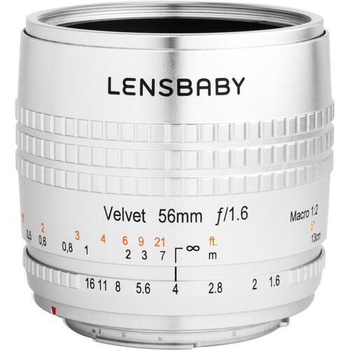 Lensbaby Velvet 56mm f/1.6 Lens for FUJIFILM X (Silver)