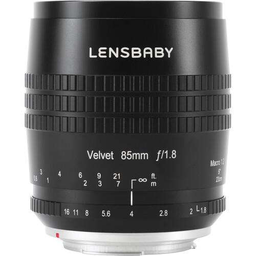 Lensbaby Velvet 85mm f/1.8 Lens for Canon RF (Black)